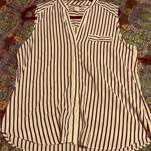 H & M short sleeve striped blouse